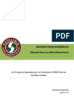 Jóvenes Emprendedores - Manual Para Las Microfinancieras