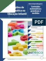 Matemática Na Educação Infantil - Rota 6 - Conteúdos Matemáticos Grandezas e Medidas (1)