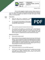 2011-FEB-21 Correction Centre Fact Sheet 2