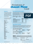 Engine Exhaust flow rate calculation