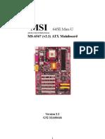 MS-6547 (v2.1) ATX Mainboard
