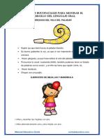 Ejercicios bucofaciales para mejorar el desarrollo del lenguaje oral