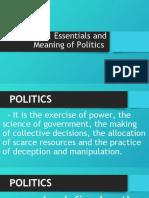 LESSON 1 PHILIPPINE POLITICS AND GOVERNANCE
