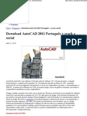 autocad gratis download portugues