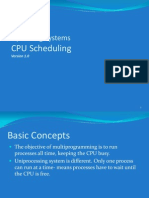 Lecture 5 and 6- CPU Scheduling