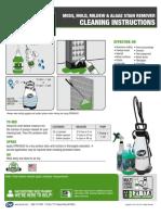 SPRAY&GO Cleaning Instructions Sprayers