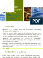 Sustainable Development in Malaysia- Planning, Policy  Law