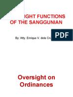 2014 Oversight and Quasi-Judicial Functions of the Sanggunian (VMLP)