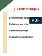 4 LIAISONS MECANIQUE _(dégré de liberté_)