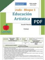 Plan 3er Grado - Bloque 1 Educación Artística (2015-2016).doc