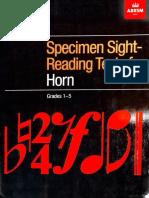 ABRSM Horn Sight Reading 1-5