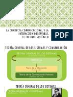 La conducta comunicacional y la interacción observable. Dra. Melisa Mandolesi
