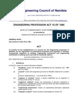 Engineering Profession Act 1986