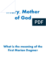 (MARIOLOGY) Mary, Mother of God