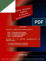 SUPPORT GESTION DE RECRUTEMENT