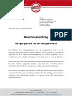 Beschlussantrag Tscherms / Jahrgangsbaum für alle Neugeborenen