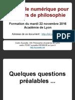7 Utiliser le numérique pour le cours de philosophie (2016-2017)