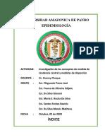TRABAJO SUB GRUPO 1 MEDIDAS DE TENDENCIA CENTRAL Y MEDIDAS DE DIS