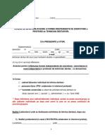 MODEL 1 - Cerere de Infiintare Avizare a Formei Independente de Exercitare a Profesiei de Tehnician Dentar SRL