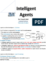 Lecture 2 (A)  Intelligent Agents By Dr. Fazeel Abid