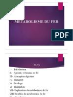 Métabolisme du fer