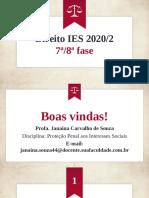 Aula 01 - Proteção Penal aos Interesses Sociais