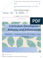 Curriculum Development Reforms and Enhancement- Curriculum Development Reforms and Enhancement Module 6 Gearing Up for the Future Curriculum _ Course Hero