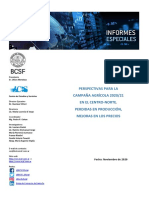 Informe Especial Campaña Agrícola 2020