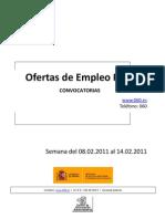 BOLETIN DE EMPLEO PUBLICO DEL 8 AL 14 DE FEBRERO