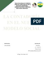 EL NUEVO MODELO SOCIAL PNF CONTADURIA PUBLICA