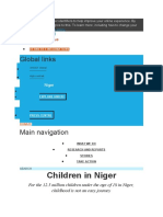 UNICEF Niger youtful population