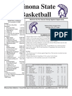 Winona State Women's Basketball Feb. 8, 2011 Game Notes
