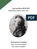 MOZART, Wolfgang Amadeus • Digital Mozart Edition. NMA online. An hypertext catalog of the New Mozart Edition (Neue Mozart-Ausgabe)