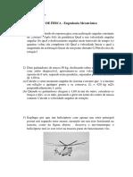 AVALIAÇÃODE FÍSICA 1 - Rotação