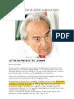 Lettre au Président de l'Europe par Bernard DEBRE