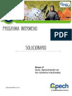 GUÍA 16 APROXIMACIÓN DE IRRACIONALES SOLUCIONARIO