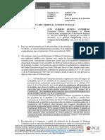 Escrito ante el Tribunal Constitucional sobre petitorio de demanda