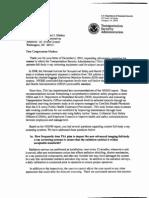 TSA response to Rep. Edward Markey