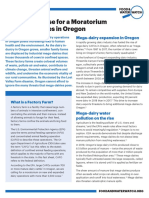 The Urgent Case for a Moratorium on Mega-Dairies in Oregon