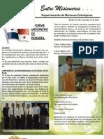 Boletin 190 Informe Misionero Panama - Noviembre 15 de 2010