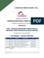 PRO-00027 Colocacion GeoTextil en Presa