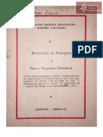 Declaracion de Principios y Nuevo Programa Partidario 1967