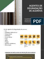 AGENTES DE DEGRADAÇÃO DE ACERVOS