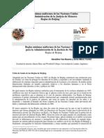 Reglas mínimas uniformes de las Naciones Unidas para la Administración de la Justicia de Menores Reglas de Beijing