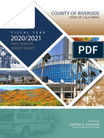 Riverside County FY 2020-21 First Quarter Budget Report