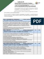 Ficha 1 Detección de Necesidades Educativa