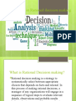 Best Practices in Rational decision making