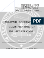 TM 12-427 Military Occupational Classification fo Enlisted Personnel (12 July 1944)