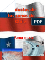 Productos de las zonas de Chile