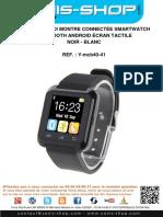 Mode d'emploi Montre connectée smartwatch Bluetooth Android écran tactile.pdf